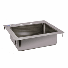 """Omcan 14"""" X 10"""" X 5"""" Stainless Steel Single Drop In Sink With Flat Top, Model# 39781"""