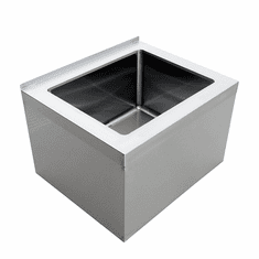 """Omcan 20"""" X 16"""" X 12"""" Stainless Steel Mop Sink With Drain Basket, Model# 44606"""