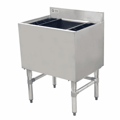 """Omcan 24"""" Stainless Steel Insulated Ice Bin With 7 Circuit Post-Mix Cold Plate, Model# 43477"""