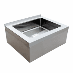 """Omcan 28"""" X 20"""" X 6"""" Stainless Steel Mop Sink With Drain Basket, Model# 44605"""