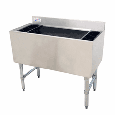 """Omcan 36"""" Stainless Steel Insulated Ice Bin With 7 Circuit Post-Mix Cold Plate, Model# 43478"""
