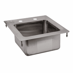 """Omcan 9"""" X 9"""" X 5"""" Stainless Steel Single Drop In Sink With Flat Top, Model# 39778"""