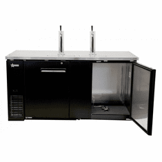 "Omcan (Fma) 69"" Double Solid Door Beer Bottle Dispenser w/ 2 Taps 23.3 Cu Ft, Model 50068"