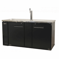 Omcan Beer Dispenser Dbl Solid Doors With Two Taps 23.3 Cu Ft Model 50068