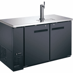 Omcan Beer Dispenser Double Solid Doors With One Tap 19 Cu Ft Model 50067