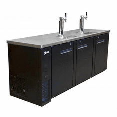 Omcan Beer Dispenser Three Solid Doors With Two Taps 32 Cu Ft Model 50069