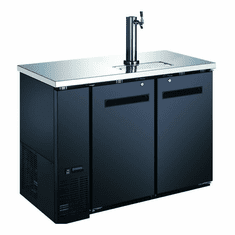 "Omcan (Fma) 49"" Solid Door Back Bar Cooler w/ Beer Dispenser 1 Tap 11.8 Cu Ft, Model 50063"