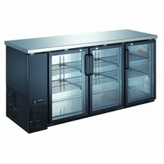 "Omcan (Fma) 73"" Triple Glass Door Back Bar Cooler w/ 19.6 Cu Ft Capacity, Model 50062"