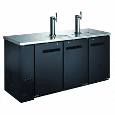 "Omcan (Fma) 73"" Solid Door Back Bar Cooler w/ Beer Dispenser 2 Taps 19.6 Cu Ft, Model 50065"