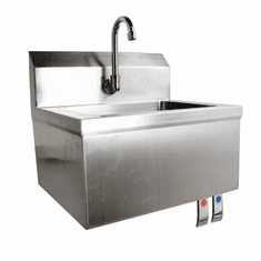 Omcan Fabricated Hand Sink With Knee Valve Assembly, Model# 46319