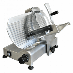 "Omcan (Fma) 10"" Manual Meat Slicer Gravity Feed Belt Driven 1/4 Hp, Model 13623"