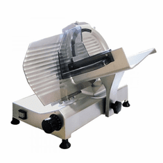 "Omcan (Fma) 10"" Manual Meat Slicer Gravity Feed Belt Driven .30 Hp, Model 13620"