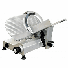 "Omcan (Fma) 10"" Manual Meat Slicer Gravity Feed Belt Driven .35 Hp, Model 13621"