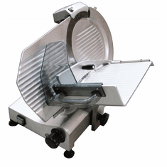 "Omcan (Fma) 11"" Manual Meat Slicer Gravity Feed Belt Driven .30 Hp, Model 13624"