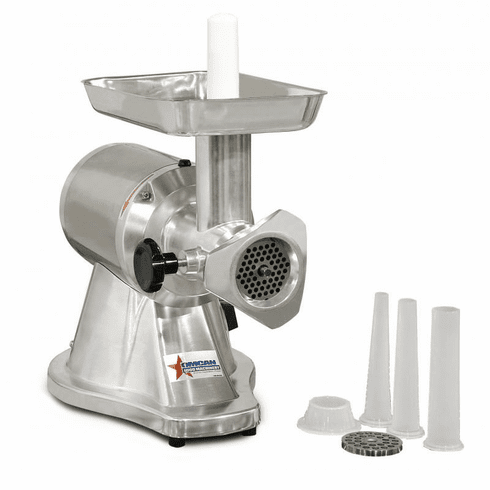Omcan (Fma) 12 Stainless Steel 1 HP Electric Meat Grinder & Sausage Stuffer, Model 21720