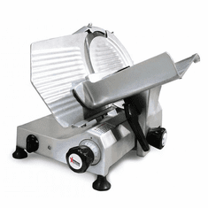 "Omcan (Fma) 12"" Manual Meat Slicer Gravity Feed Belt Driven .35 HP Nsf Ul, Model 13628"