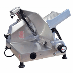 "Omcan (Fma) 13"" Manual Meat Slicer Gravity Feed Belt Driven Assembly 1/2 Hp, Model 13635"