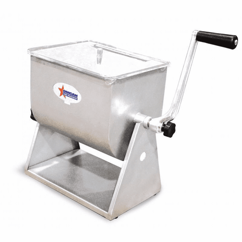 Omcan (Fma) 17 LB Tilting Stainless Steel Meat Mixer w/ Clear Top, Model 19202