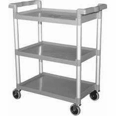 Omcan (Fma) 3-Tier Durable Plastic Bussing Cart, Model# 18306