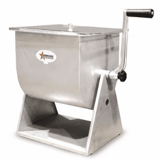 Omcan (Fma) 44 LB Tilting Stainless Steel Meat Mixer w/ Clear Top, Model 19203