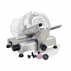 "Omcan (Fma) 8"" Manual Meat Slicer Gravity Feed Belt Driven 1/5 HP Removeable Sharpener, Model 13606"