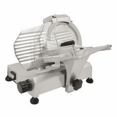 "Omcan (Fma) 8"" Manual Meat Slicer Gravity Feed Belt Driven 1/5 HP Fixed Sharpener, Model 13607"