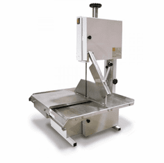 "Omcan (Fma) Table Top Meat Band Saw 74"" Blade 1/2 HP Stainless Steel Sliding Table, Model 10274"
