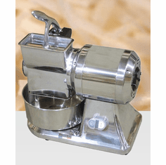 Omcan (Fma) Cheese Grater Electric Microswitch Stainless Steel Basin & Hopper 1 HP, Model# 11404