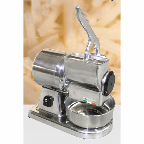 Omcan (Fma) Cheese GraterElectricCast Iron Grater DrumStainless Steel Basin & Hopper1/2 Hp, Model# 11401