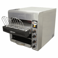 "Omcan (Fma) 10"" Stainless Steel Conveyor Toaster (300 Slices / Hour), Model 11385"