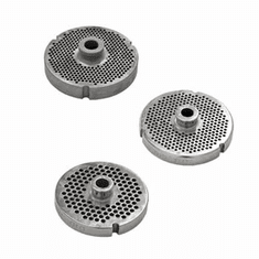 "Omcan (Fma) 56 Stainless Steel 1/4"" (6.4 MM) Machine Plate w/ Hub & 2 Flat Sides, Model 11186"