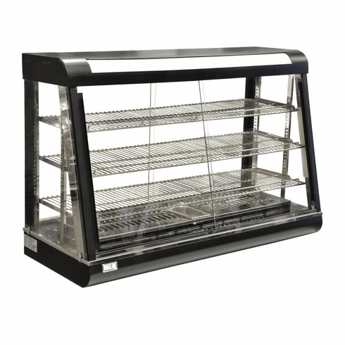 "Omcan (Fma) 47"" 3 Tier Electric Display Warmer (Both Sides Slide Open), Model 21571"