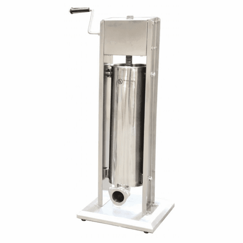 Omcan (Fma) 15 LB Stainless Steel Sausage Stuffer w/ 4 Stainless Steel Tubes, Model 24200