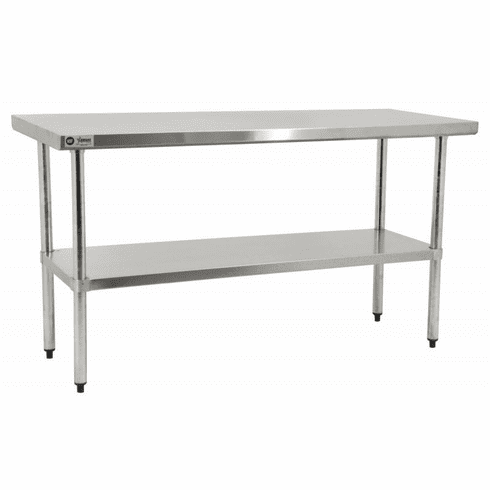 "Omcan (Fma) 30"" x 30"" Elite Series Stainless Steel Work Table w/ Undershelf NSF, Model 17584"