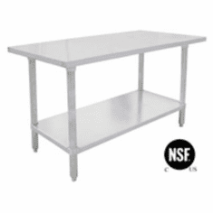 "Omcan (Fma) 'El Series Work Table48""W X 24""D18/430 Stainless Steel TopWithout Backsplash Nsf, Model# 17580"