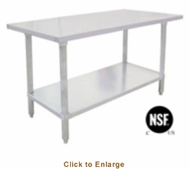 "Omcan (Fma) 'El Series Work Table72""W X 24""D18/430 Stainless Steel TopWithout BacksplashNsf, Model# 17582"