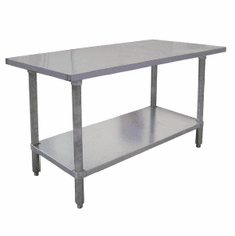 "Omcan (Fma) 'El Series Work Table96""W X 24""D18/430 Stainless Steel TopWithout BacksplashNsf, Model# 18854"
