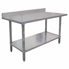 "Omcan (Fma) 'El Series Work Table96""W X 30""D18/430 Stainless Steel Top4"" BacksplashNsf, Model# 23807"