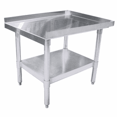 "Omcan (Fma) 30"" x 15"" Stainless Steel Top Equipment Stand, Model 24087"