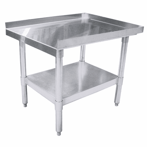 "Omcan (Fma) 30"" x 24"" Stainless Steel Equipment Stand w/ Galvanized Frame & Shelf NSF, Model 22057"