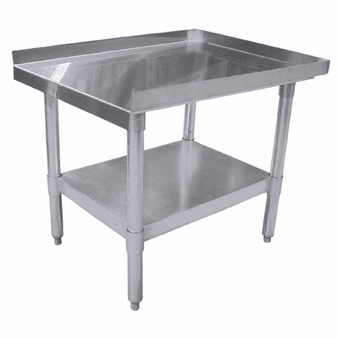 "Omcan (Fma) 30"" x 30"" Stainless Steel Equipment Stand w/ Galvanized Frame & Shelf NSF, Model 22058"