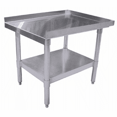"Omcan (Fma) 30"" x 72"" Stainless Steel Equipment Stand w/ Galvanized Frame & Shelf NSF, Model 22062"