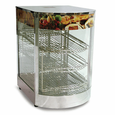 "Omcan (Fma) 14"" Curved Glass Display Warmer - 3 Tier, Model 21829"