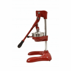 "Omcan (Fma) 5"" Manual Cast Iron Red Cirtus Squeezer, Model 23576"