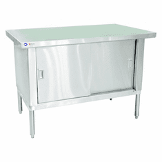 "Omcan (Fma) 30"" x 48"" 430 Stainless Steel Knock Down Work Table NSF, Model 24397"