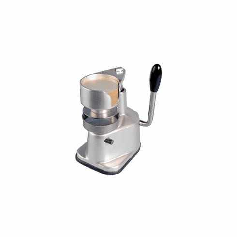 """Omcan (Fma) Manual Hamburger Press 4"""" Diameter, Anodized Aluminum Body, Stainless Steel On Food Contact Areas, Model# 11426"""