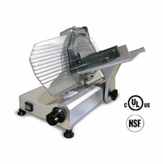 "Omcan (Fma) Meat Slicer Manual Gravity Feed 9"" Diameter Carbon Steel BladeBelt Driven Blade Assembly 1/4 HP, NSF UL, Model# 13616"