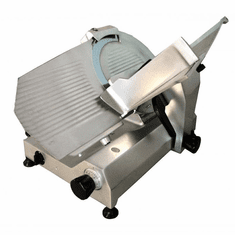"Omcan (Fma) 14"" Manual Meat Slicer Gravity Feed Belt Driven 1/2 Hp, Model 13637"