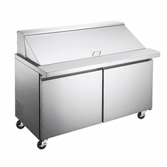 """Omcan (Fma) 47"""" Mega Top Refrigerated Prep Table 2 Section, Model 50050"""