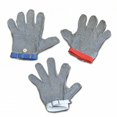 Omcan (Fma) Extra Small Cut Resistant Mesh Glove w/ Gray Wrist Strap, Model 13560